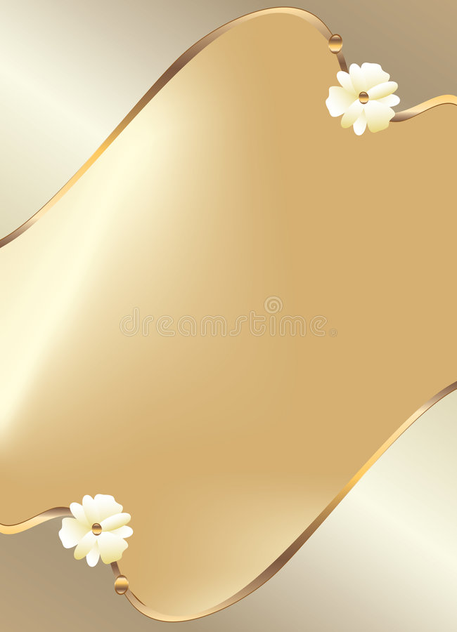 projekta kwiatu złocisty biel royalty ilustracja