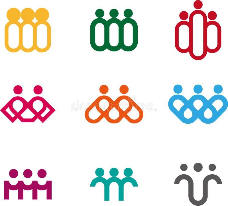 Projekta loga elementu ludzie royalty ilustracja