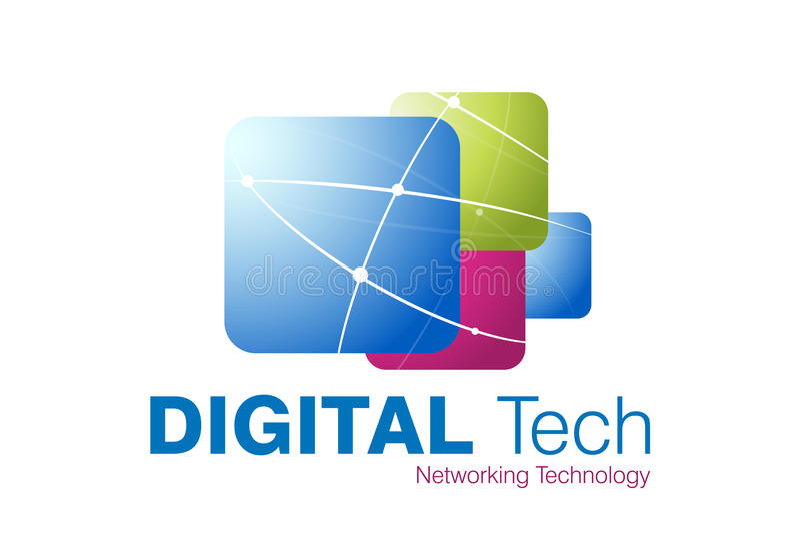 projekta loga technologia ilustracji