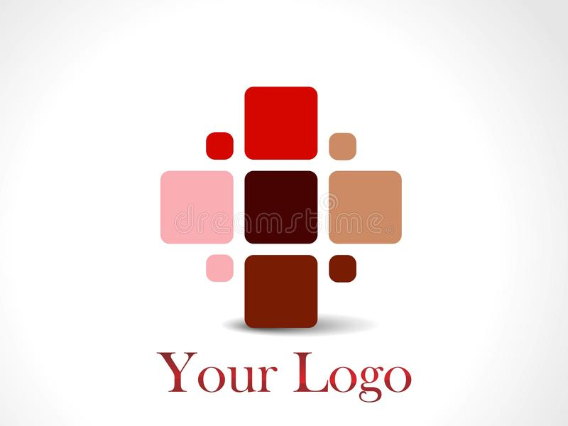 projekta loga ustalony unikalny ilustracja wektor