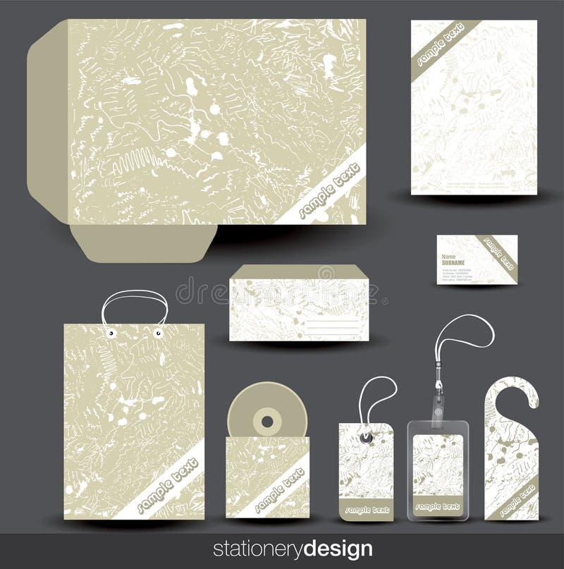 projekta materiały szablon ilustracja wektor