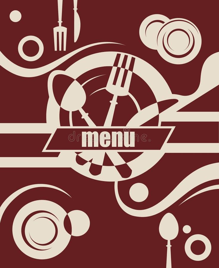 projekta menu restauracja royalty ilustracja