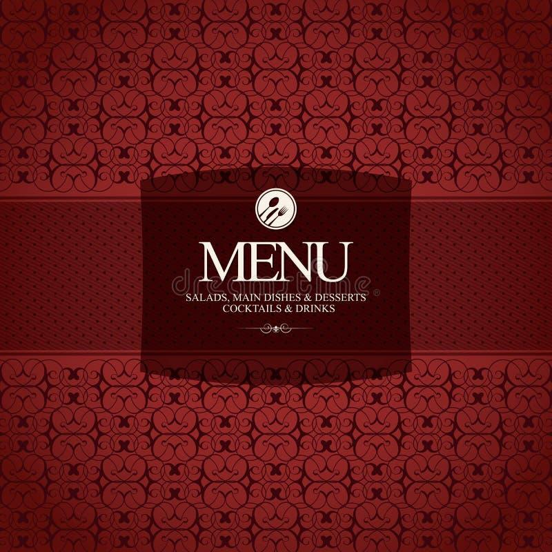 projekta menu restauracja ilustracja wektor
