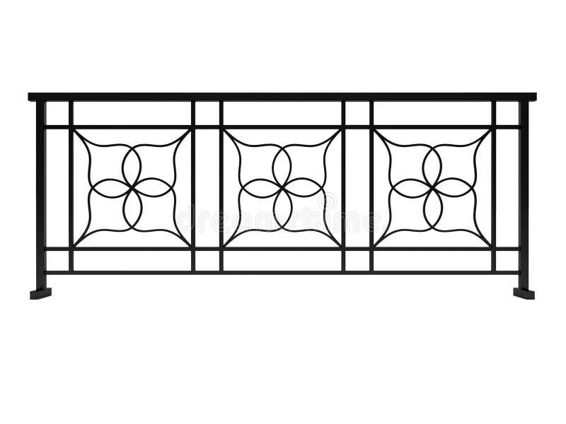 Projekta metalu czarny poręcz odpłaca się 3d modela ilustracja wektor
