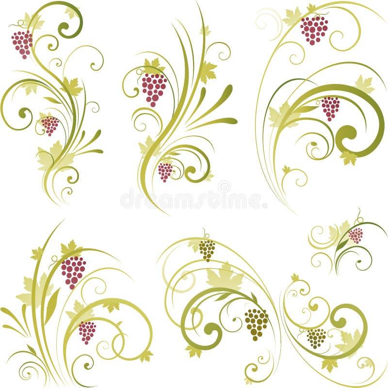 projekta motywów wino ilustracja wektor