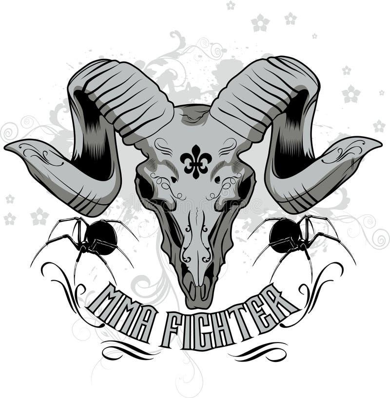 projekta myśliwska mma koszula t ilustracji