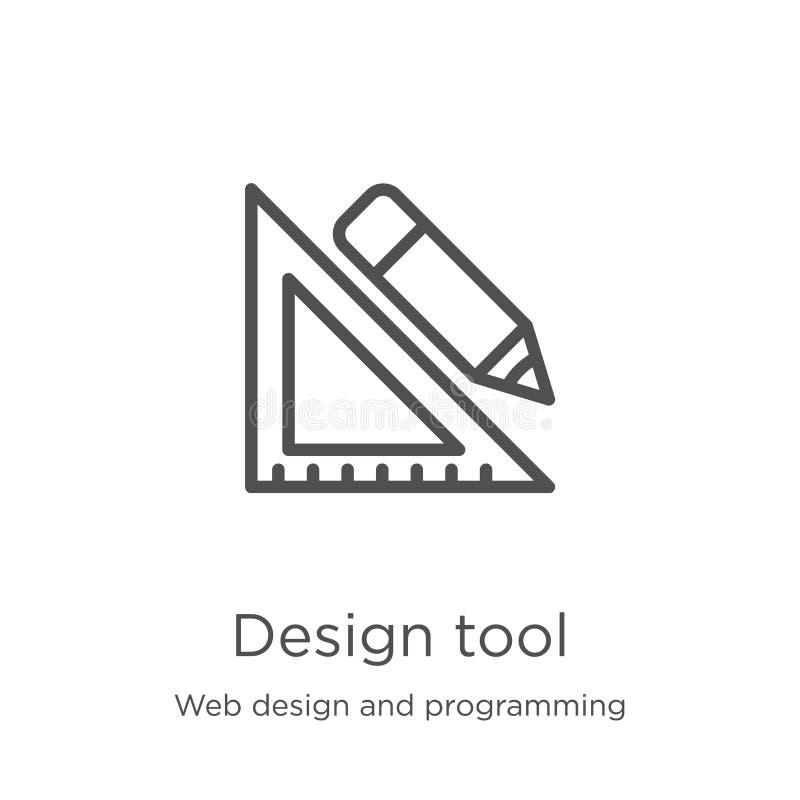 projekta narzędzia ikony wektor od sieć projekta i programowanie kolekcji Cienka kreskowa projekta narzędzia konturu ikony wektor ilustracja wektor