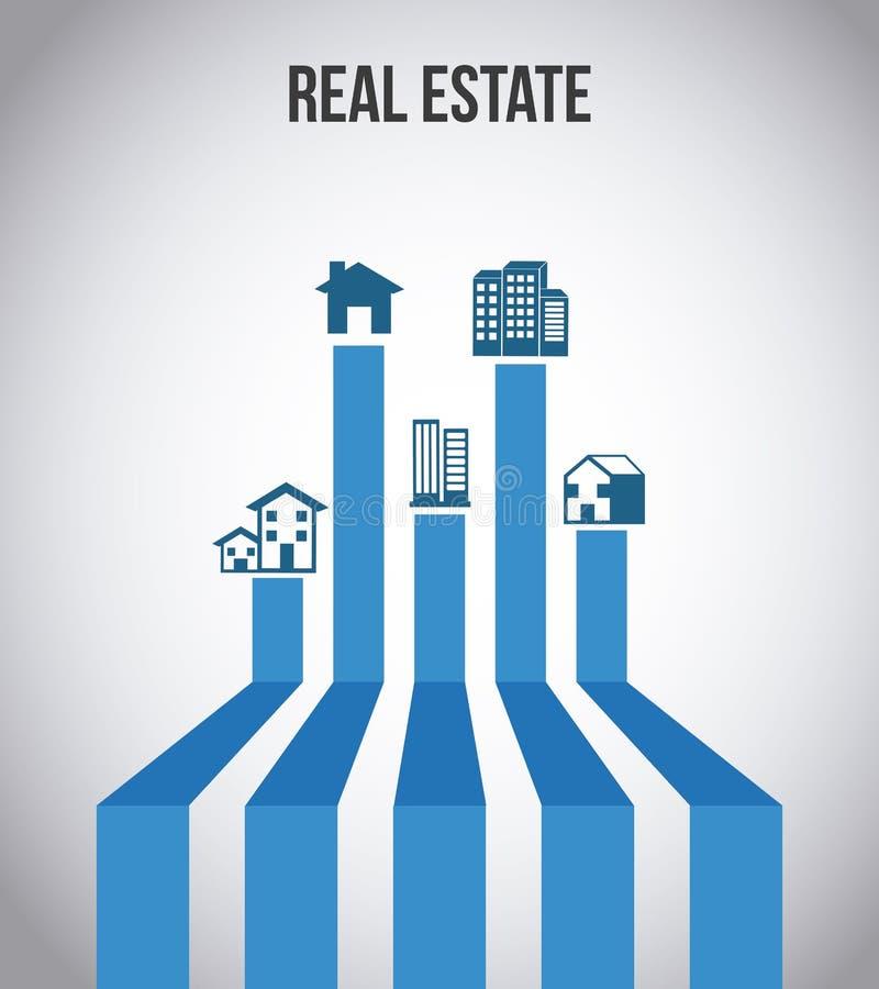 projekta nieruchomości domu reala sprzedaż ilustracji