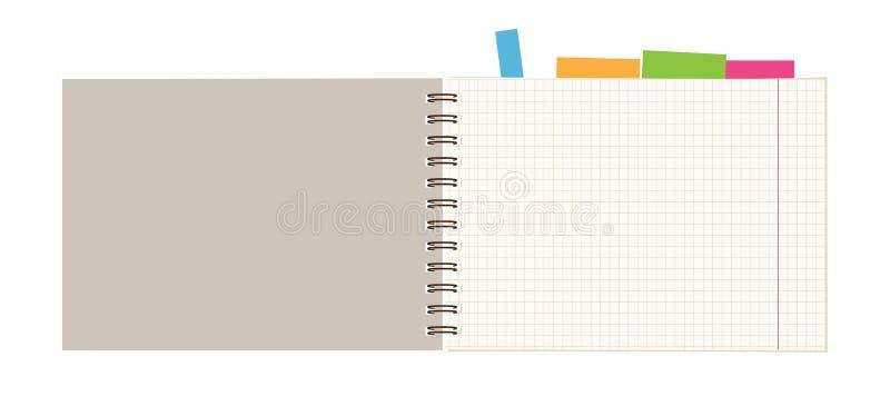 projekta notatnika otwarta strona twój ilustracji