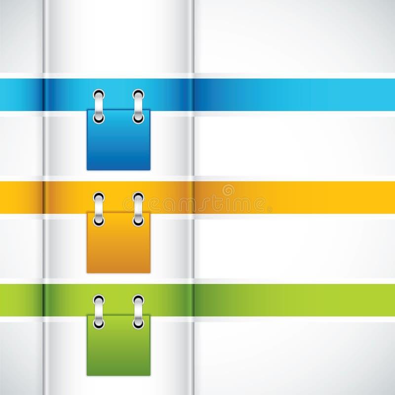 Projekta nowożytny szablon ilustracja wektor