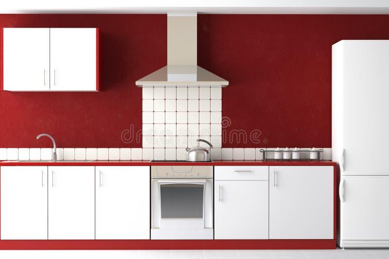 projekta nowożytny wewnętrzny kuchenny ilustracja wektor