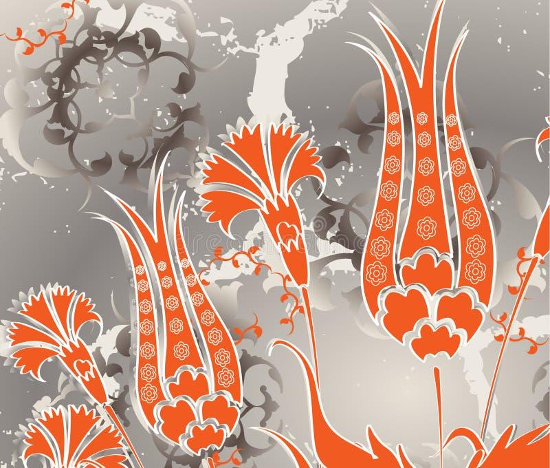 projekta ottoman bezszwowy tradycyjny turkish royalty ilustracja