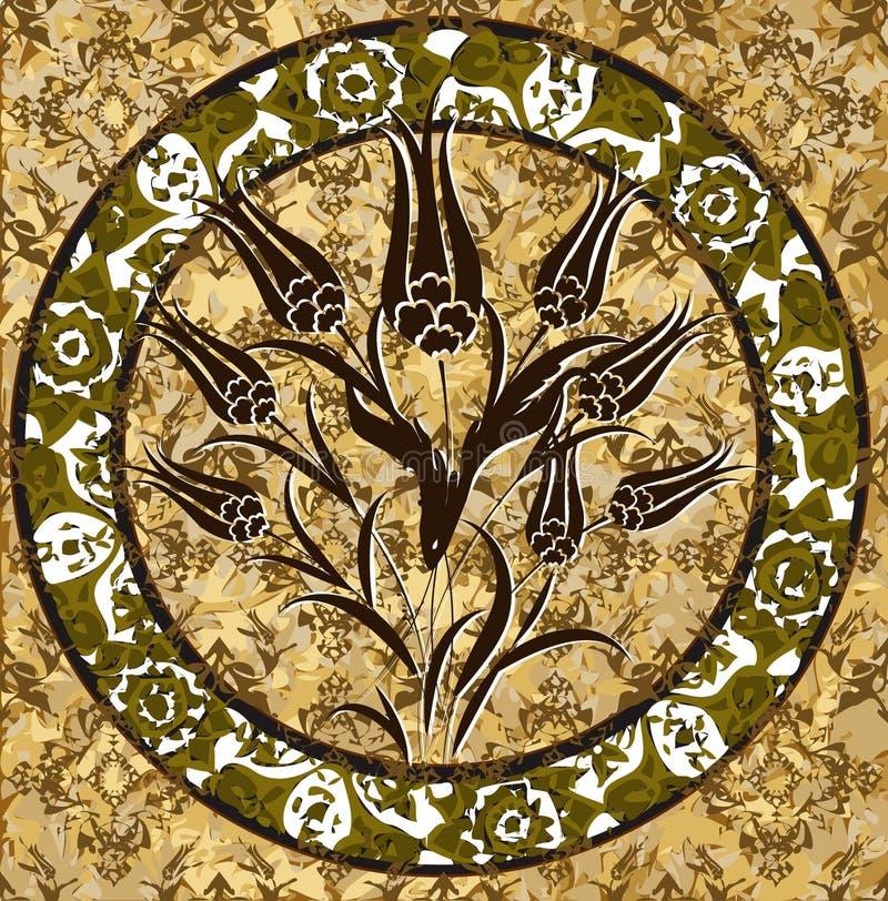 projekta ottoman tradycyjny tulipanowy turkish royalty ilustracja