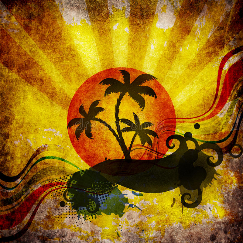 projekta plażowy lato ilustracji
