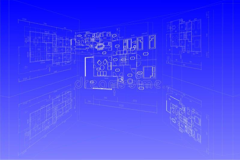 projekta planu wektor ilustracji