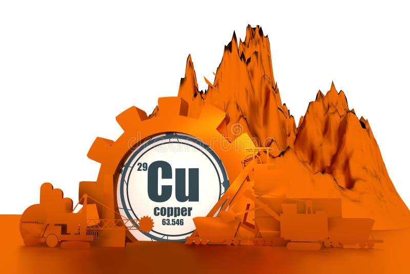 Projekta pojęcie coalmining przemysł ilustracja wektor