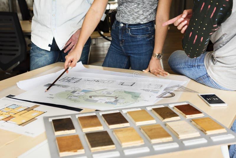Projekta Pracownianego architekta zajęcia spotkania Kreatywnie projekt Co zdjęcie royalty free