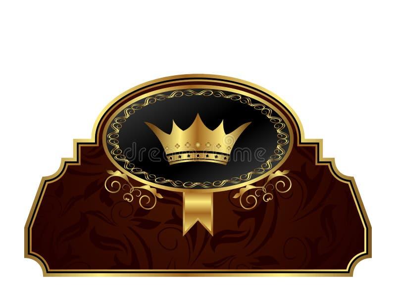 projekta ramowy złoty etykietki kocowanie royalty ilustracja