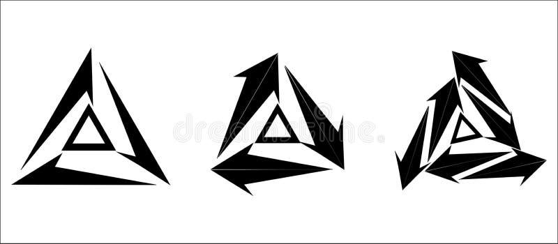 Projekta symbol jest geometrycznym trójboka symbolem ilustracji