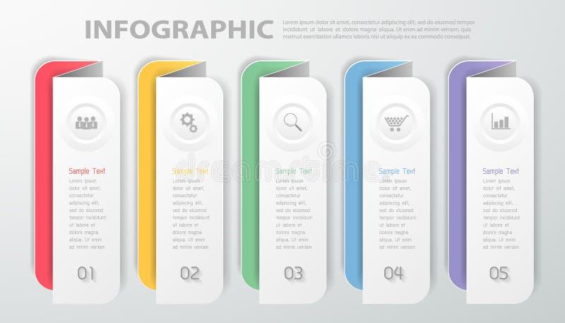 Projekta szablon Infographic Wektorowa ilustracja może używać dla obieg, układ, diagram, proces ilustracji
