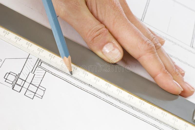 Projekta szkicu papiery zdjęcie stock