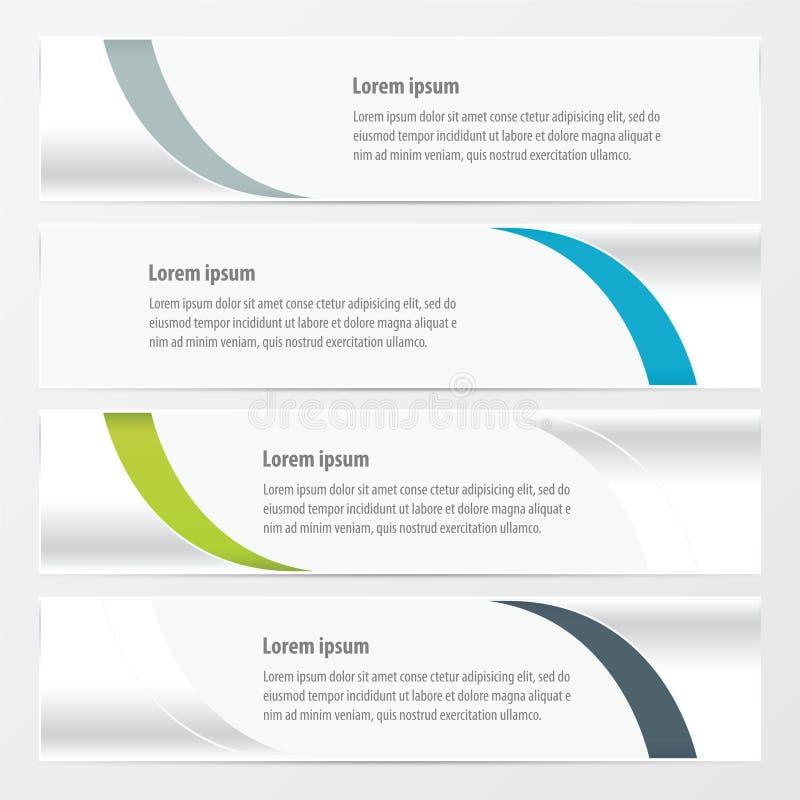 Projekta sztandaru wektorowa zieleń, błękit, szarość barwi ilustracja wektor