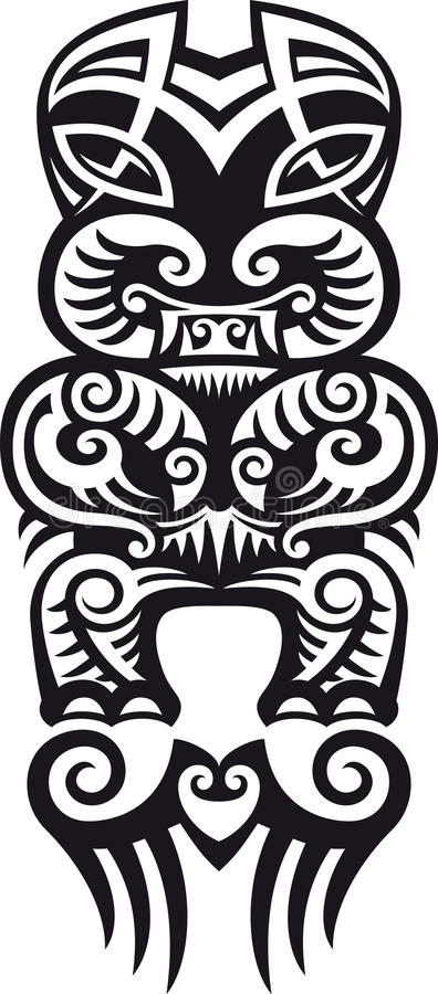 projekta taniwha tatuaż royalty ilustracja