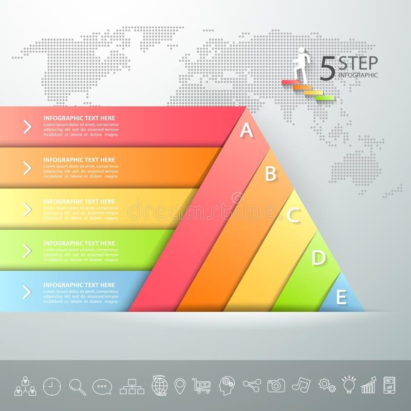 Projekta trójboka infographic szablon Biznesowy pojęcie infographic royalty ilustracja