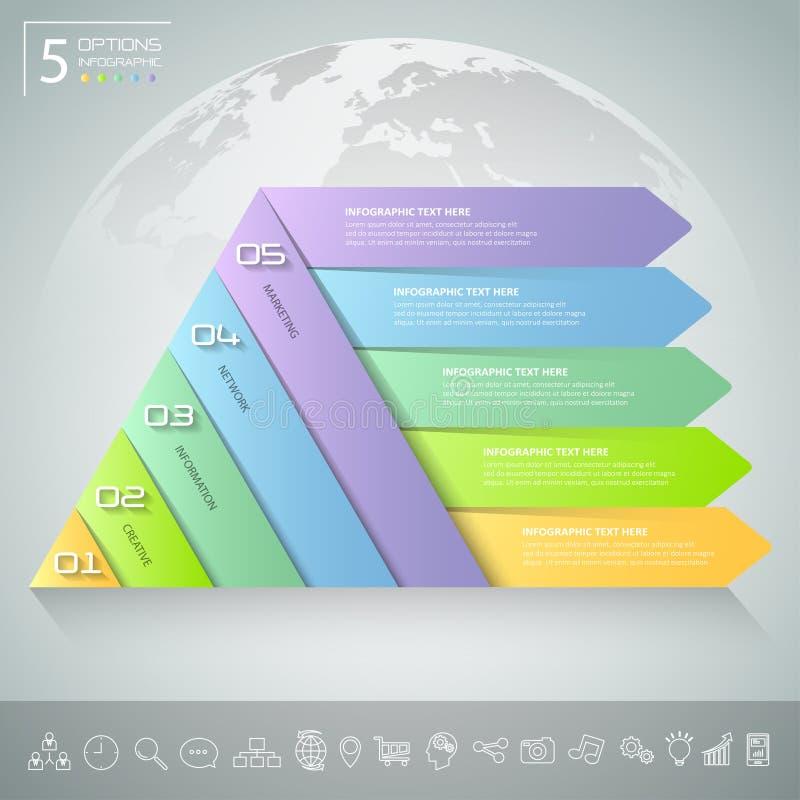Projekta trójboka infographic szablon Biznesowy pojęcie infographic ilustracji