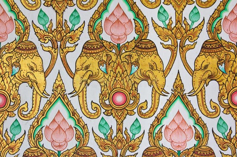 projekta wal deseniowy tajlandzki tradycyjny zdjęcie royalty free