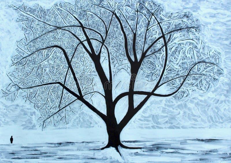 projekta wizerunku drzewa zima royalty ilustracja