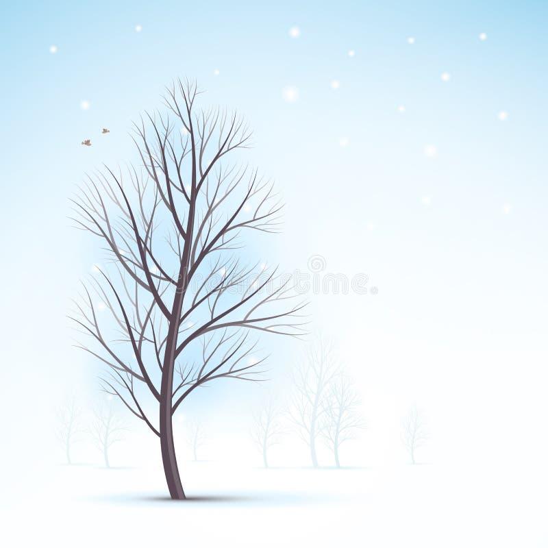 projekta wizerunku drzewa zima ilustracji