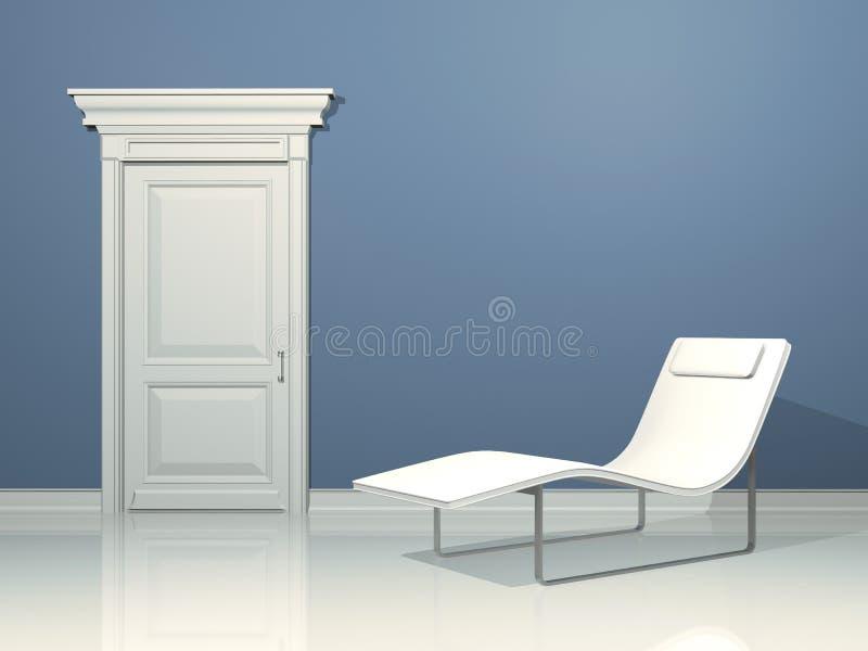 projekta wnętrze relaksuje ilustracja wektor