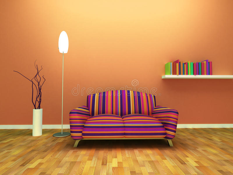 projekta współczesny wnętrze ilustracja wektor