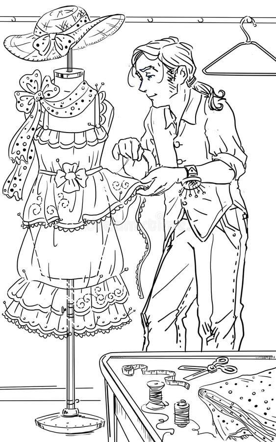 Projektant mody royalty ilustracja