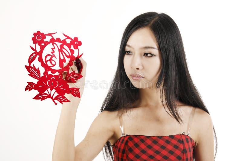 projektanta chiński rżnięty papier fotografia royalty free