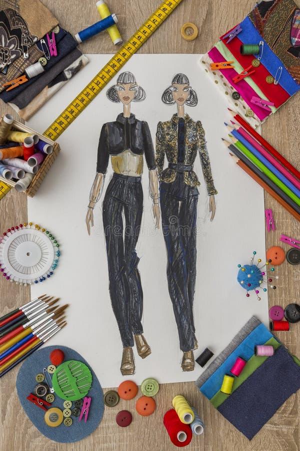 Projektanta Mody biurko obrazy royalty free