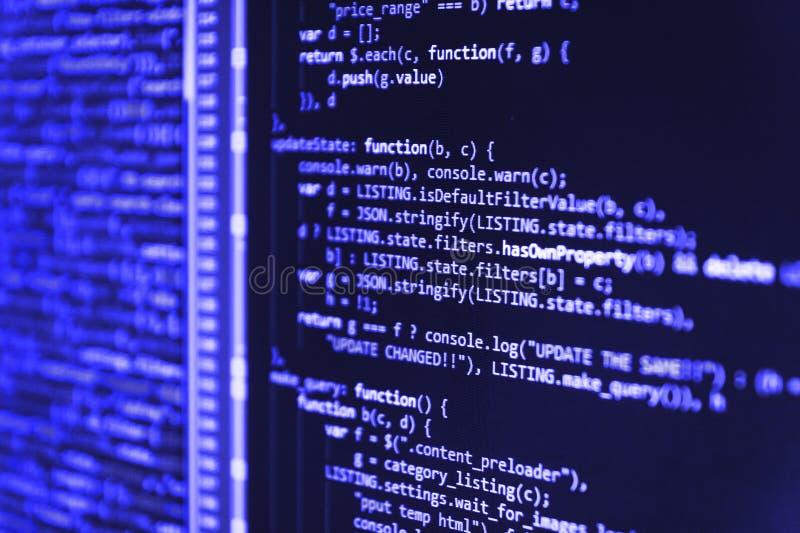 Projektchefer arbetar ny idé Stor datadatabas app Förhindrande för internetsäkerhetsen hacker royaltyfri foto