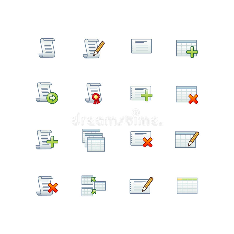 Projektdatenbank- Ikonen   vektor abbildung