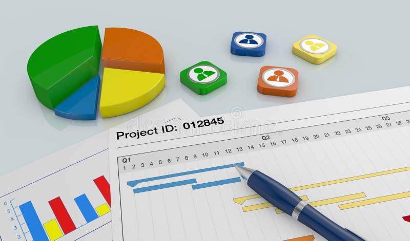 Projektera ledning vektor illustrationer
