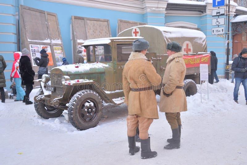 Projektgatalivet Retro lastbil GAZ-AA arkivbilder