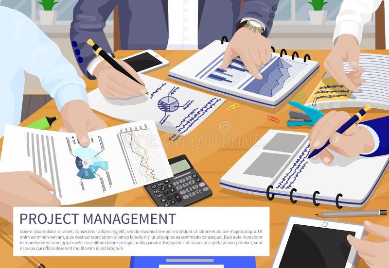 Projektleiter-Fahnen-Vektor-Illustration lizenzfreie abbildung