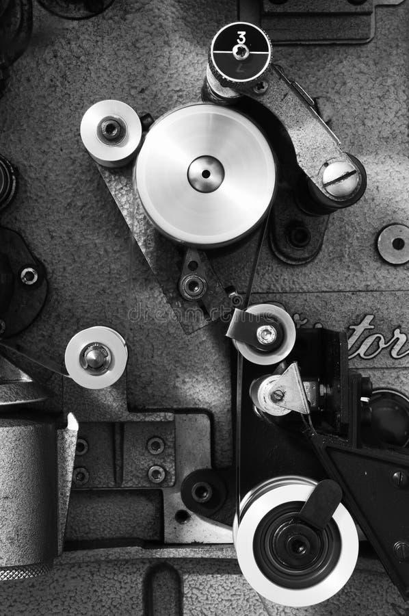projektor för cinedetaljfilm arkivbilder