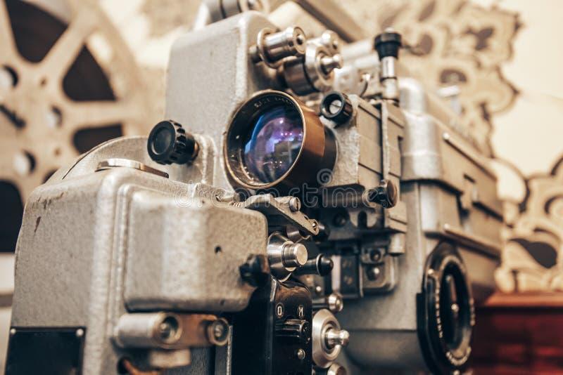 Projektor för tappningmetallfilm royaltyfria bilder