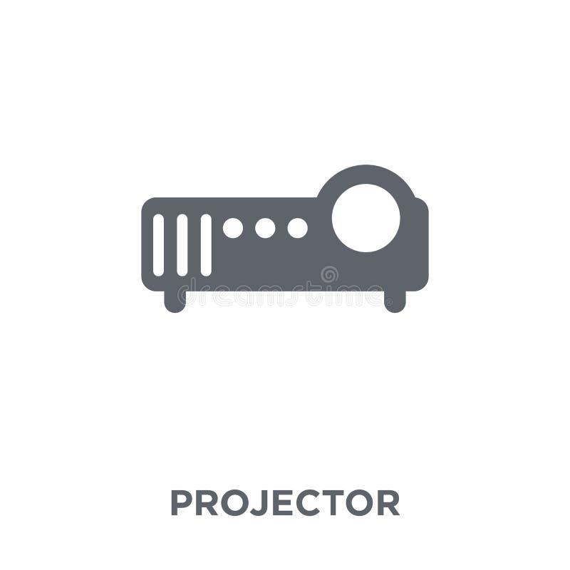 Projektor ikona od urządzeń elektronicznych inkasowych ilustracji