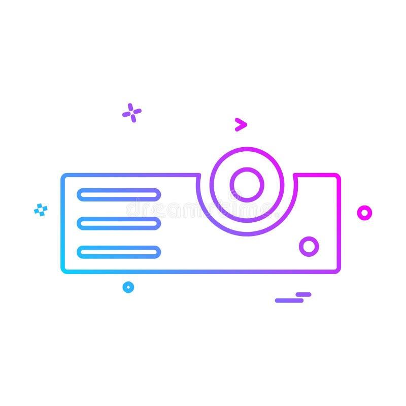 Projektor ikony projekta wektor ilustracja wektor