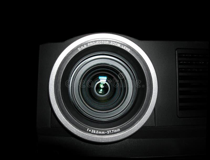 Projektorobjektiv - nahes hohes lizenzfreie stockfotos