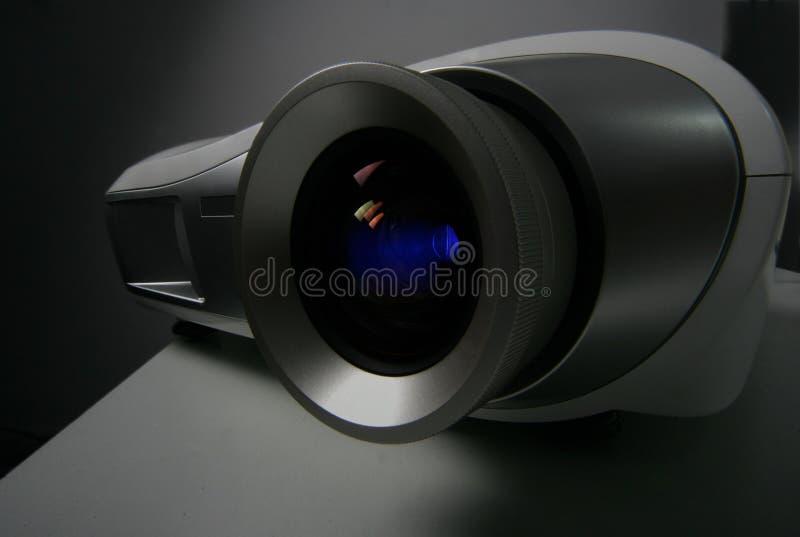 Projektorobjektivnahaufnahme lizenzfreie stockfotografie
