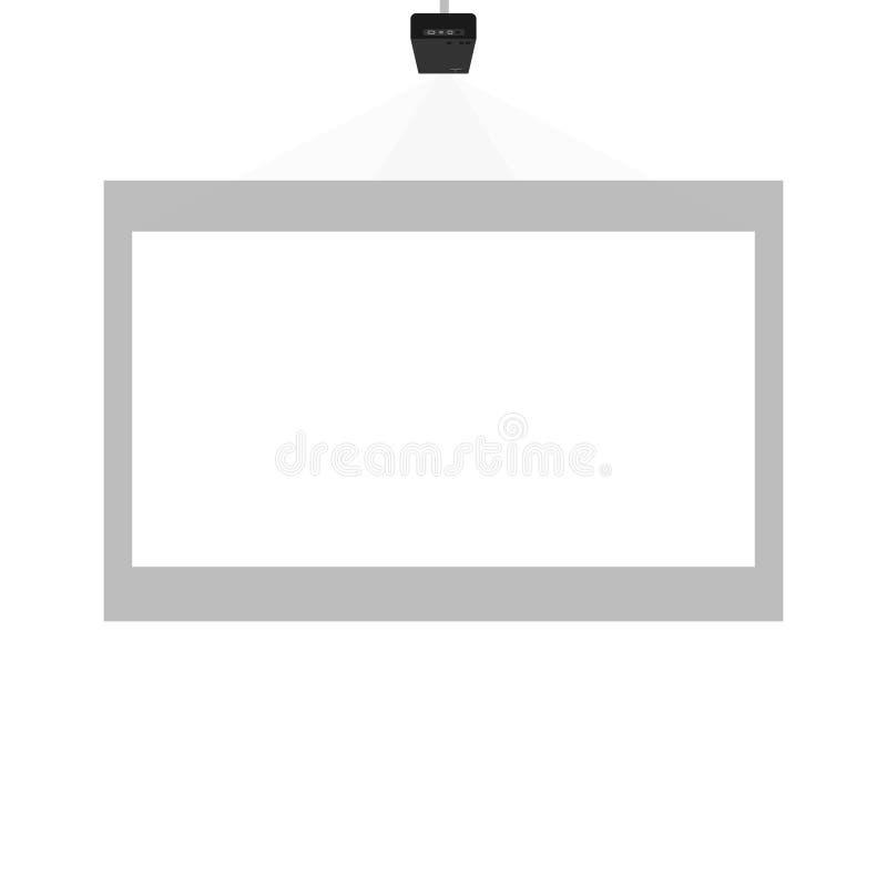 Projektorpresentation i klassrumet eller kontoret royaltyfri illustrationer