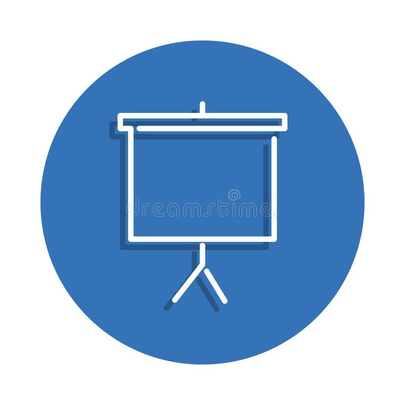 Projektorschirmikone Element der Bildung für bewegliches Konzept und Netz apps Ikone Dünne Linie Ikone mit Schatten im Ausweis fü vektor abbildung